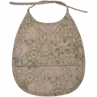 Mikk-Line - PU Bib Small AOP // Covert Green