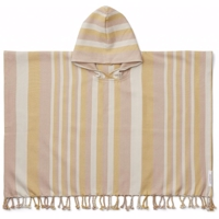 Liewood - Roomie poncho // stripe:peach sandy yellow mellow
