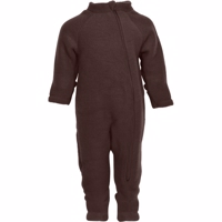 Mikk-Line - Wool Baby Suit // Puce Brown