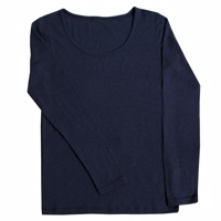 Joha Woman Emma Merino Uld Dress Blue Bluse LÆ