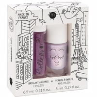 Nailmatic - 'Lovely city'  Lipgloss BLACK BERRY  & Neglelak