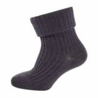 Melton, Basic sock- wool w/heavy Rib mørk grå