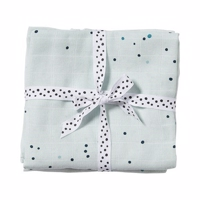 Done by deer - Stofbleer Dreamy dots blue 2 pak- 70x70 com