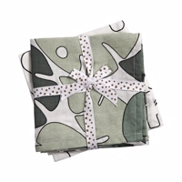 Done by deer - Stofbleer Tiny Tropics Green 2 pak- 70x70 com