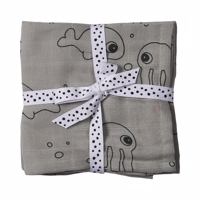 Done by deer - Stofbleer Sea Friends grey 2 pak store
