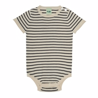 FUB - Baby body SS //ecru/dark navy