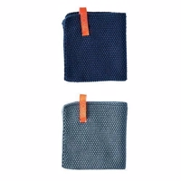 OYOY Dishcloth - 2 stk - Dusty Aqua & Dark Denim