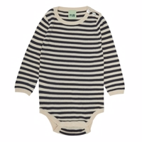 FUB - Baby body LS // Ecru/Dark Navy