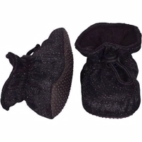 Melton, Booties - Black Glitter