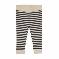 FUB - Baby leggings/ecru/dark navy