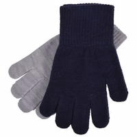 Melton-2 -pack Gloves 2 farverMarine /grå