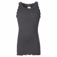 Rosemunde Lace Top, Dark Grey Melange