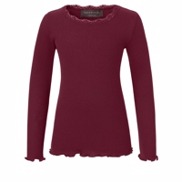 Rosemunde Long Sleeve Silk Blouse, Soft Wine
