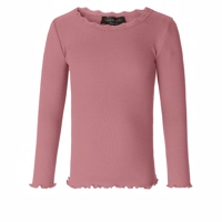 Rosemunde - Silk T-shirt LS Vintage Lace // Pale Rose