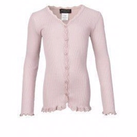 Rosemunde Soft cardigan with lace for girls PINK