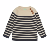 FUB - Baby sweater  //ecru/dark navy
