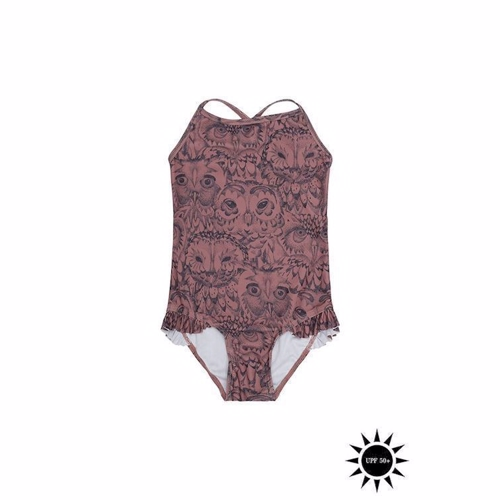 Soft Gallery Ida Swimsuit - Burlwood AOP Owl