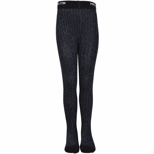 Melton, Bamboo Tights W/Lurex Solid og glimmer