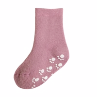 Joha Uld Wool sock w antislip rose