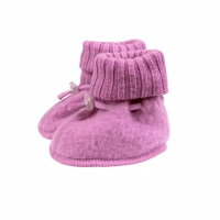 Joha Wool, Sleeping Booties, Mauve Orch