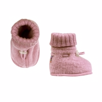 Joha Wool, Sleeping Booties, Rose