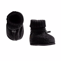 Joha Wool, Sleeping Booties, Black