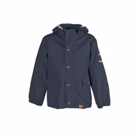 Mikk-Line PU Rain Jacket  blue night Recycled plastic