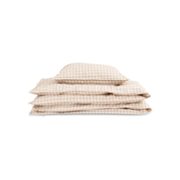 Studio Feder -Gingham Oat Bedding // JUNIOR