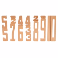 By Astrup - Wooden Numbers // 15 stk