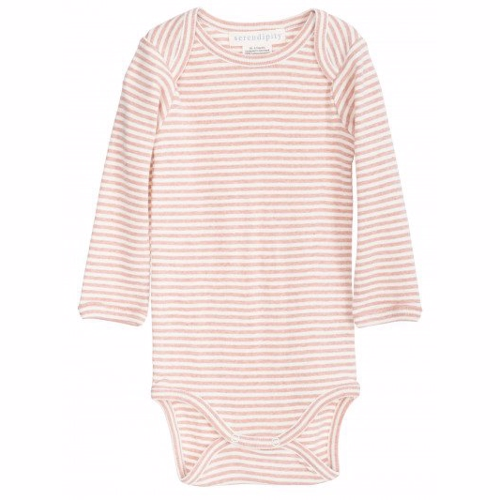 Serendipity - Baby Body LS // Clay/Offwhite