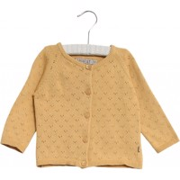Wheat strikket cardigan - Maja - Gul