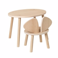 Nofred Mouse Chair & Table, Oak - SÆTPRIS!