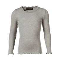 Rosemunde Silk t-shirt LS Light grey