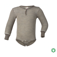 Engel - Body LS (uld og silke) // Walnut/Natur Stribet