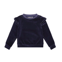 Loudly - Vera Blouse Mini Velour - ØKO-Dark blue