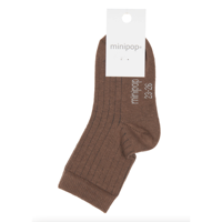 MiniPop - Bamboo Ankle Socks // Brown