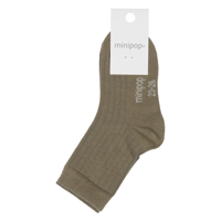MiniPop - Bamboo Ankle Socks // Light Olive
