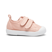 PomPom - Canvas Velcro Shoe // Rose