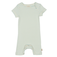 Petit Piao - Jumpsuit SS Modal Striped // Starlight Blue Eggnog