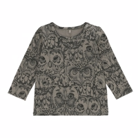 Soft Gallery Limited  Owl Baby Bella T-shirt, Vetiver Oliven