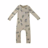 Petit Piao - Jumpsuit LS Printed // Blueberry