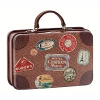 Maileg - Metal travel Suitcase, Brown