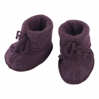 Engel - Baby booties //Purple Melange