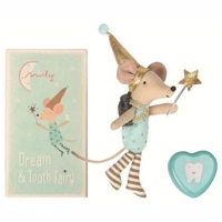 Maileg - Mouse, Tooth Fairy, Boy, w. metal heart