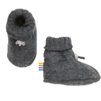 Joha Wool, Sleeping Booties, Dark Grey
