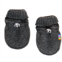 Joha Wool, Baby Mittens, Dark Grey