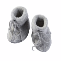 Engel - Baby Booties // Light grey melange