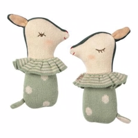 Maileg - Bambi rattle - Dusty Mint