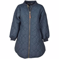 Mikk-Line Duvet lang Girls Jacket, blue Nights