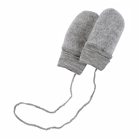 Engel - Baby Mittens // Light Grey Melange